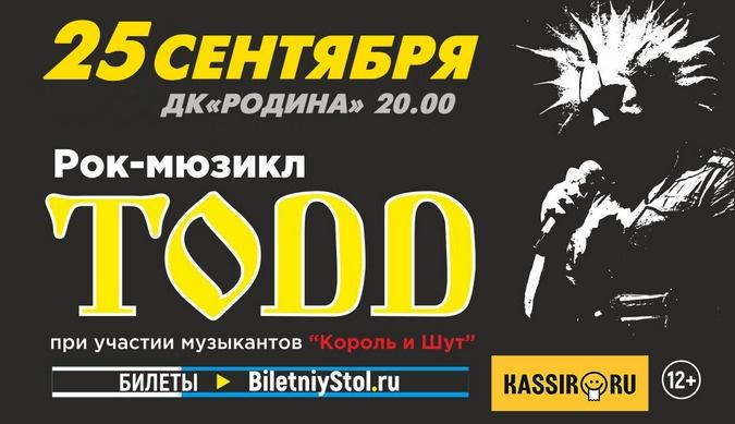 """Рок-мюзикл """"TODD"""" (12+)"""