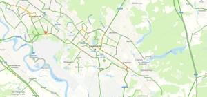 Пробки в Раменском онлайн сейчас на карте Яндекс