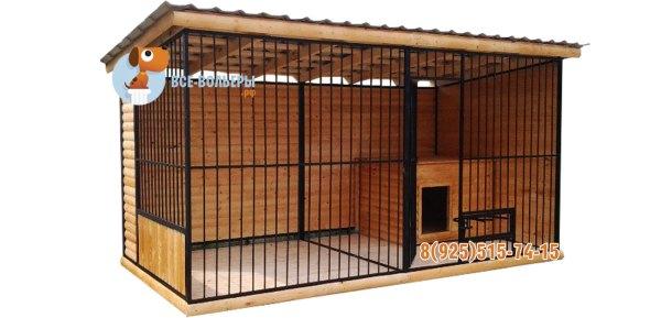 Вольеры и будки для собак – изготовление, доставка и установка