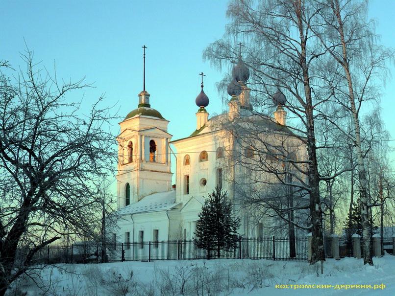 Николаевская церковь села Коткишево зимой