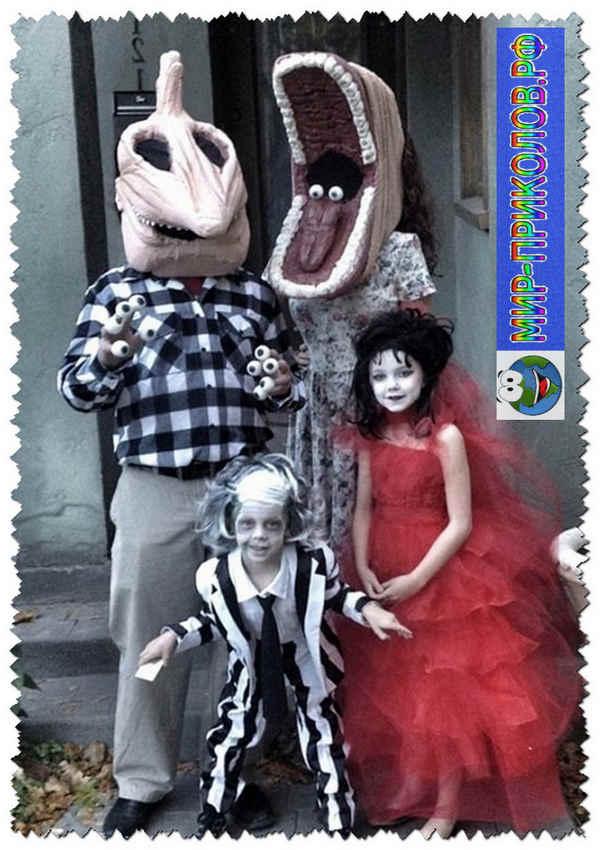 Прикольные и оригинальные костюмы на Хэллоуин фото Мир