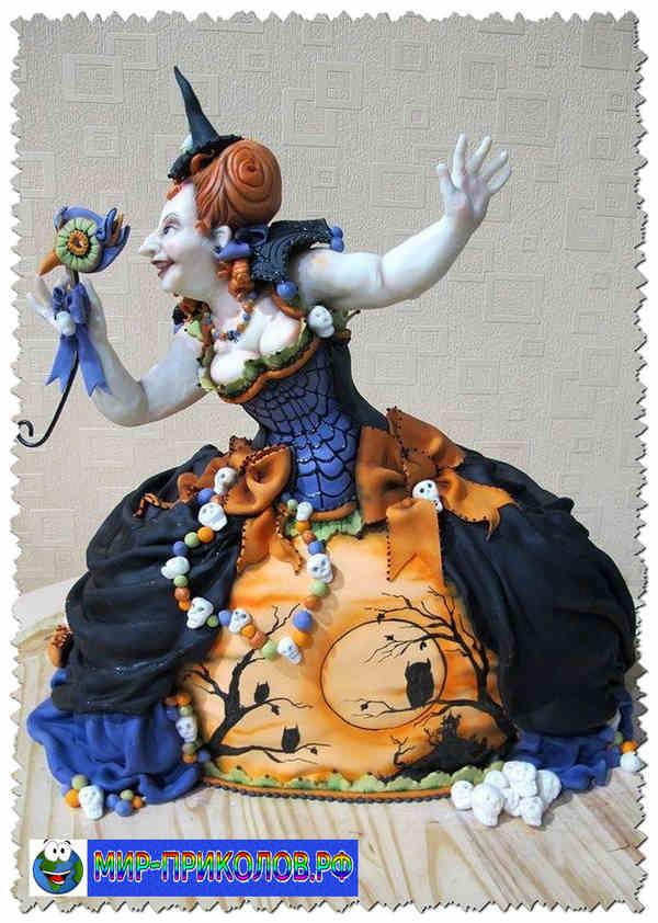 Прикольные торты на Хэллоуин фото Мир приколов