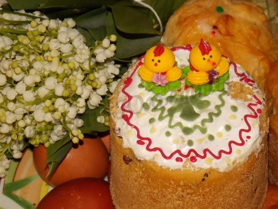 украшение пасхальных куличей - сахарные фигурки
