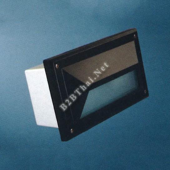โคมไฟใต้บันได สี่เหลี่ยม สีดำ