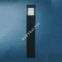 โคมไฟสนามอลูมิเนียม สีดำ
