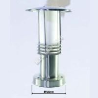 โคมไฟหัวเสาสแตนเลส แก้วขุ่น กันน้ำ