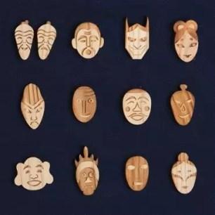 共有75種類的可愛木製徽章「日本眾神系列徽章」