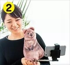 自拍時的好搭檔世界上最幸福的動物-短尾矮袋鼠造型提袋