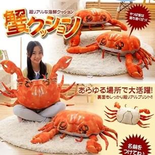 好像真的會動!驚人逼真度的螃蟹大抱枕☆