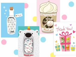 小袋裝零食與賀卡合為一體!創意商品「SWEETS CARD」數款已上架