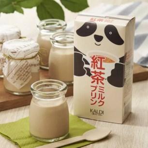 它不是飲料!KALDI COFFE FARM☆貓熊甜點系列「原創 貓熊紅茶牛奶布丁」