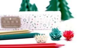 連削下的碎屑都美麗吸睛❁「花色鉛筆 / Christmas edition」
