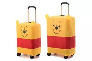 附可愛小立耳防塵套♡ 日本ace.「迪士尼 小熊維尼行李箱」新上市♪