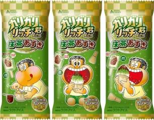 抹茶x紅豆的經典組合✩「嘎哩嘎哩君剉冰棒Rich 抹茶紅豆」香濃上市!