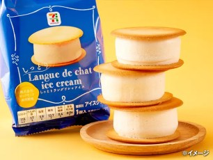 神之冰淇淋☆日本7-11限定販售♡「7 Premium 濕潤貓舌餅乾冰淇淋夾心」
