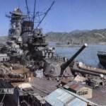呉のドックで艤装中の戦艦大和