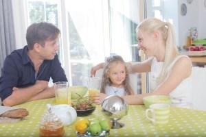 3人家族の食卓