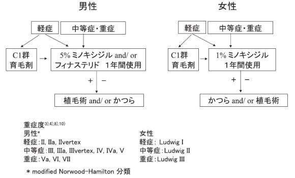 【薄毛(AGA)治療】日本皮膚科学会の男性型脱毛症診療ガイドライン