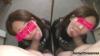 【デカチン】セフレが2人??双子のような鏡フェラ 口内発射 【個人撮影】