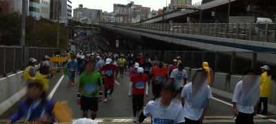阪神高速 神戸マラソン渋滞