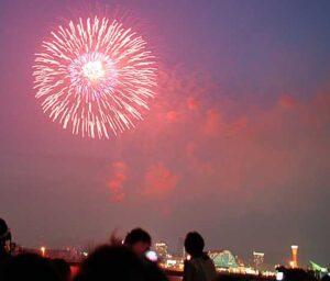 神戸花火大会 ポートアイランド