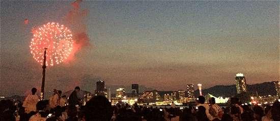 神戸花火 北公園 花火の大きさ