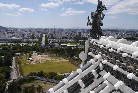 姫路城天守閣からの眺め