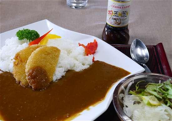 淡路島カレー 玉ねぎの天ぷら