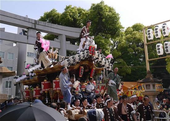 住吉神社宮入 西青木だんじり
