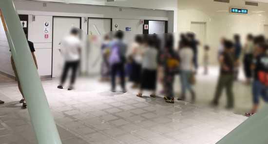 神戸花火大会 キレイなトイレ
