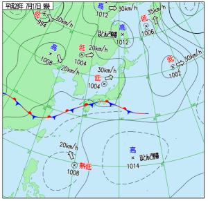 2016年07月17日_09時 天気図