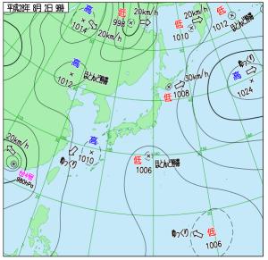 2016年08月02日_09時 天気図