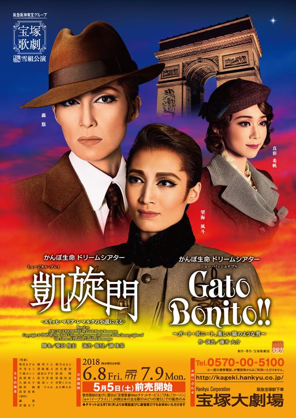 雪組公演 『凱旋門』『Gato Bonito!!』ポスター画像
