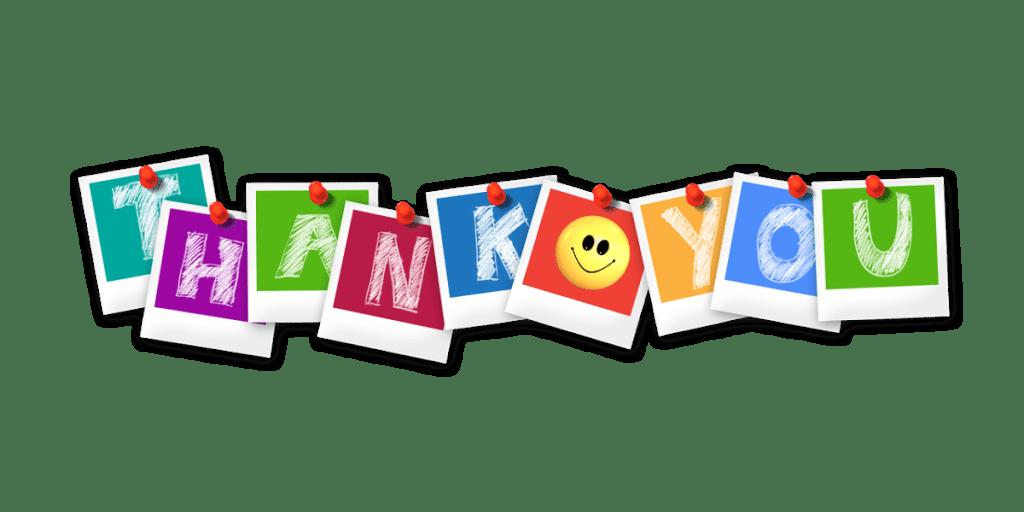 Благодарность клиентам