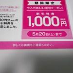nissenラッキーナンバー1000円割引クーポン:2017年5月20日まで有効。