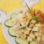 Тартар из копченой сельди с яблоками