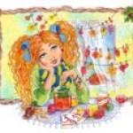 История о девчушке с веснушками и осенних листьях