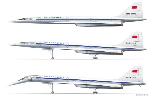 Сверхзвуковой пассажирский самолет Ту-144. - Российская ...