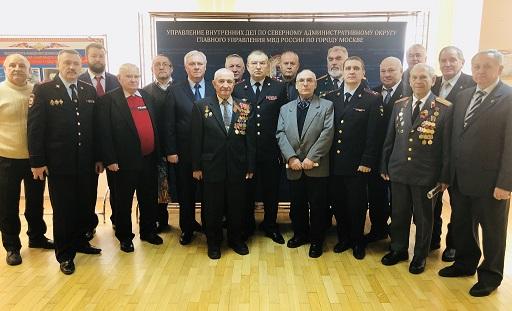 Поздравление ветеранов и сотрудников МВД