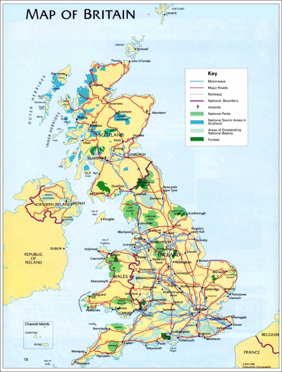 Karta Velikobritanii