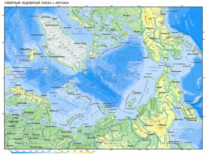 купить карту Арктики