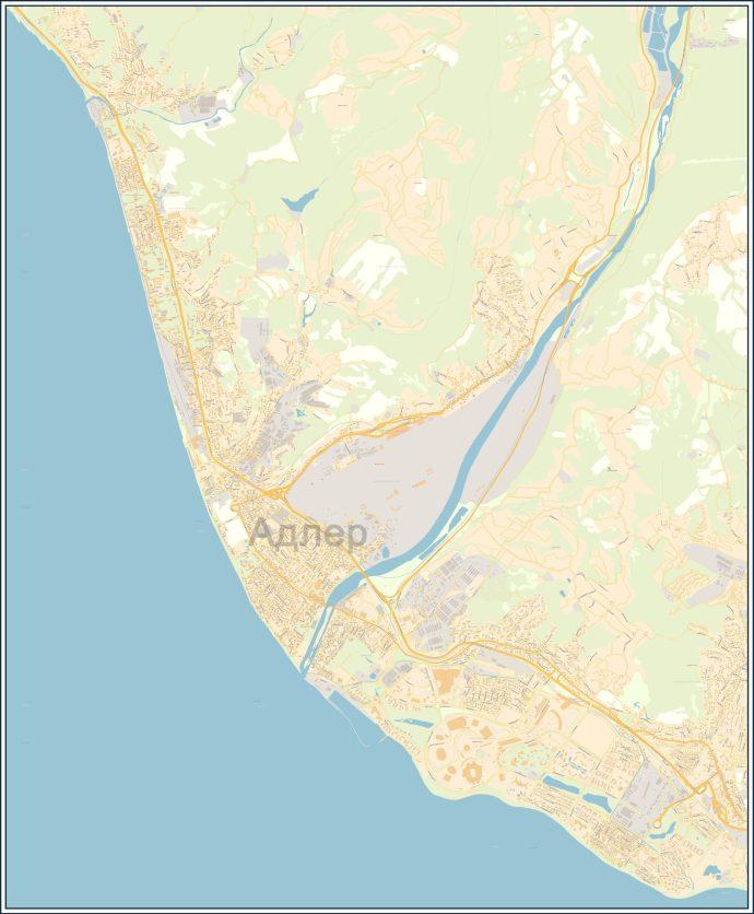 карта Адлера купить