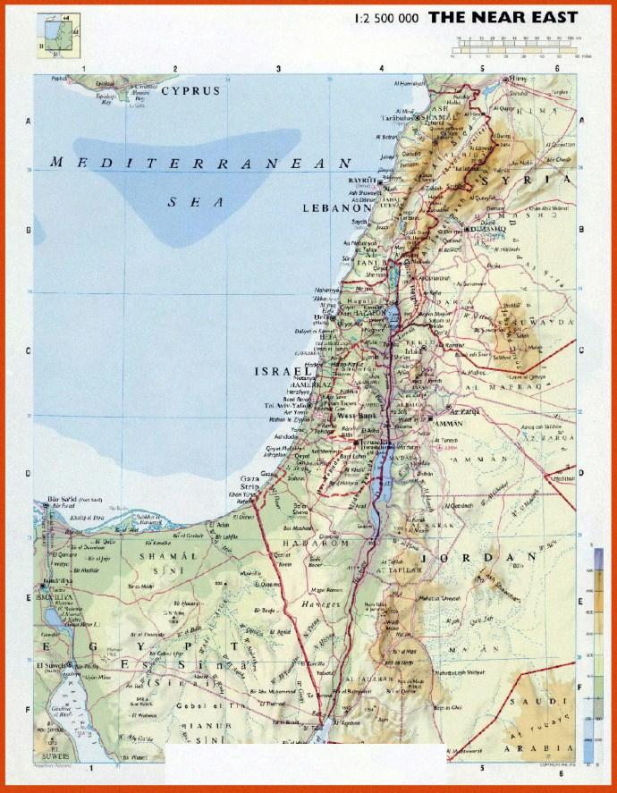 купить карту Израиля в большом формате