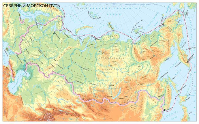 купить карту северного морского пути