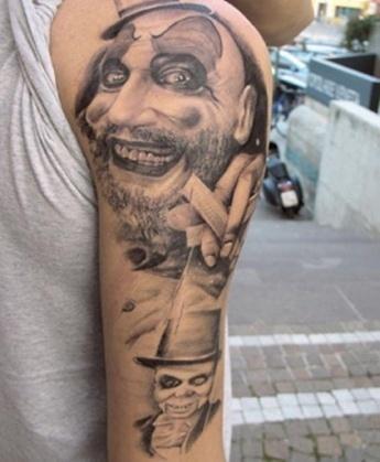 Тату клоун в маленькой шляпе   Татуировку .РФ - фото и ...