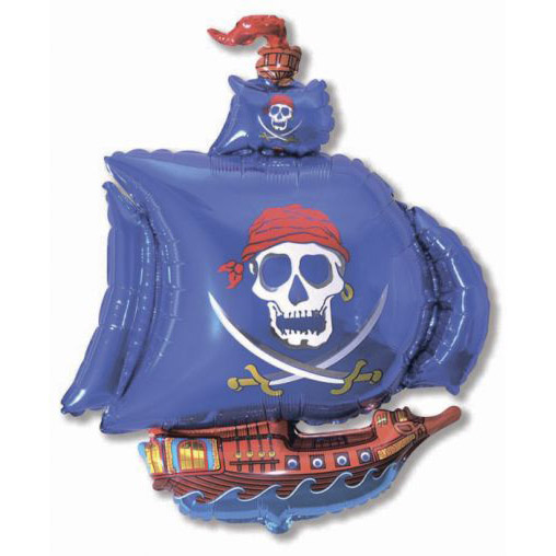Фольгированный шар пиратский корабль
