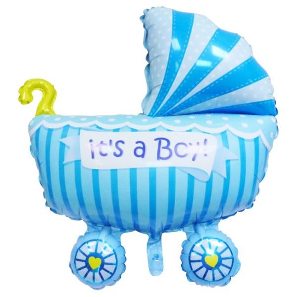 Фольгированная коляска для мальчикаика