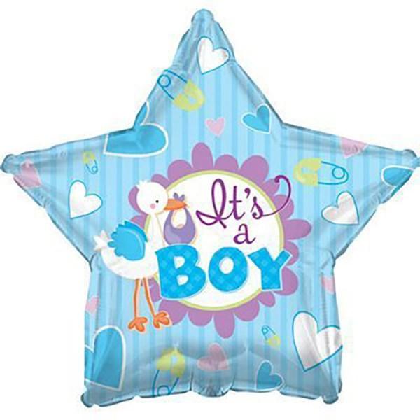 Воздушный шар звезда с сердцами это мальчик