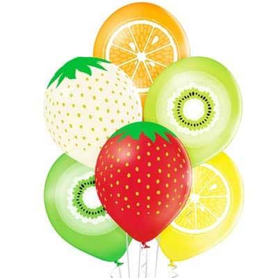 Воздушный шар с рисунком фруктов