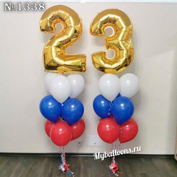 Фонтаны из шаров с цифрой 23
